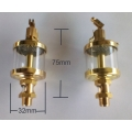2 X 20ml or 2 X 10ml sight oiler for Hercus 9 headstock---part No.89so