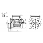 NEW .37KW single phase Flange mounted electric  motor-- 4 pole reversable for 0 mill--part No.ML71-4F