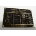 NEW Hercus 0 mill high speed chart, 160-2380-- Part No.10L0146