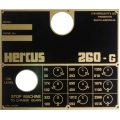NEW Hercus 260G speed chart--part No.5H376