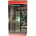 NEW hercus 260B- thread chart--part No.5H593